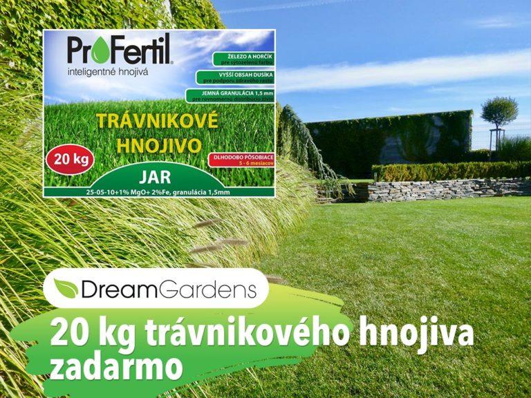 20 kg trávnikového hnojiva zadarmo - dreamgardens.sk - Záhradná architektúra - projektovanie a realizácie záhrad