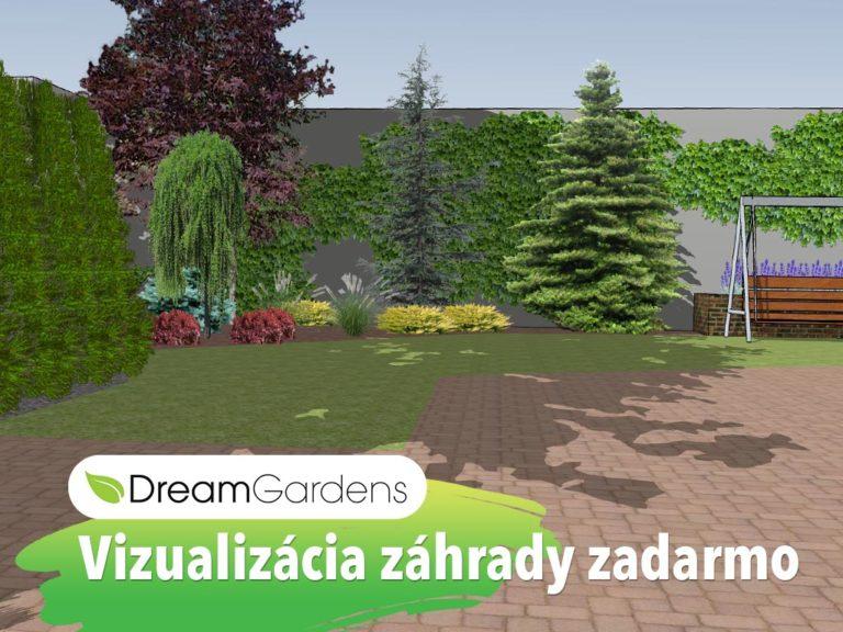 Vizualizácia záhrady zadarmo - dreamgardens.sk - Záhradná architektúra - projektovanie a realizácie záhrad
